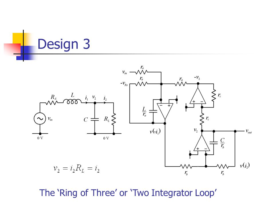 Design 3 The 'Ring of Three' or 'Two Integrator Loop'