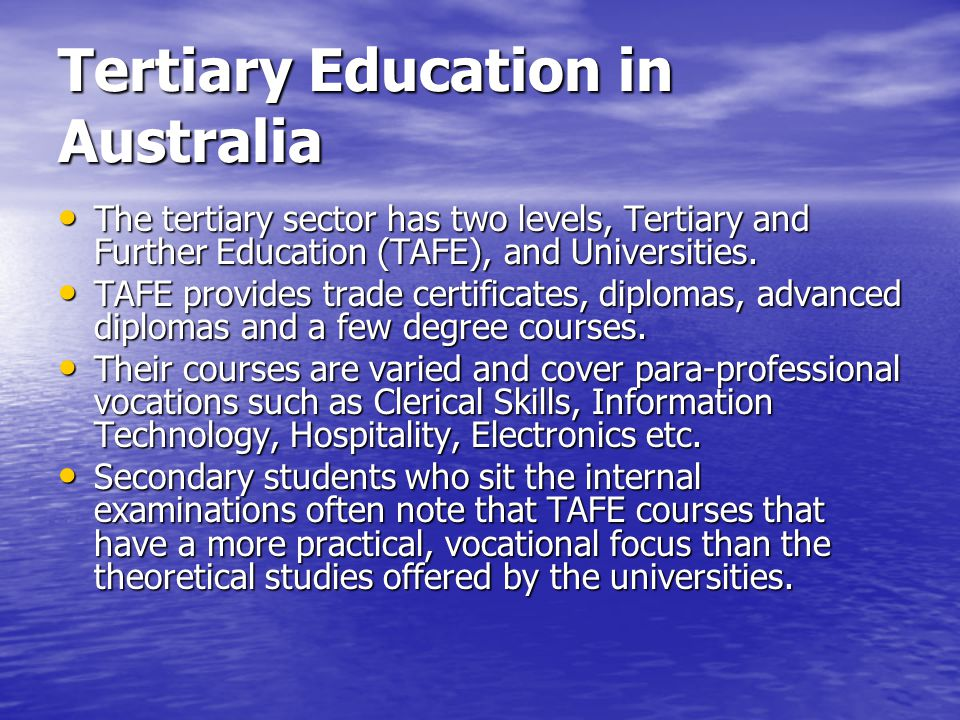 essay about tertiary education People who searched for why should i seek a higher education found the articles, information, and resources on this page helpful.