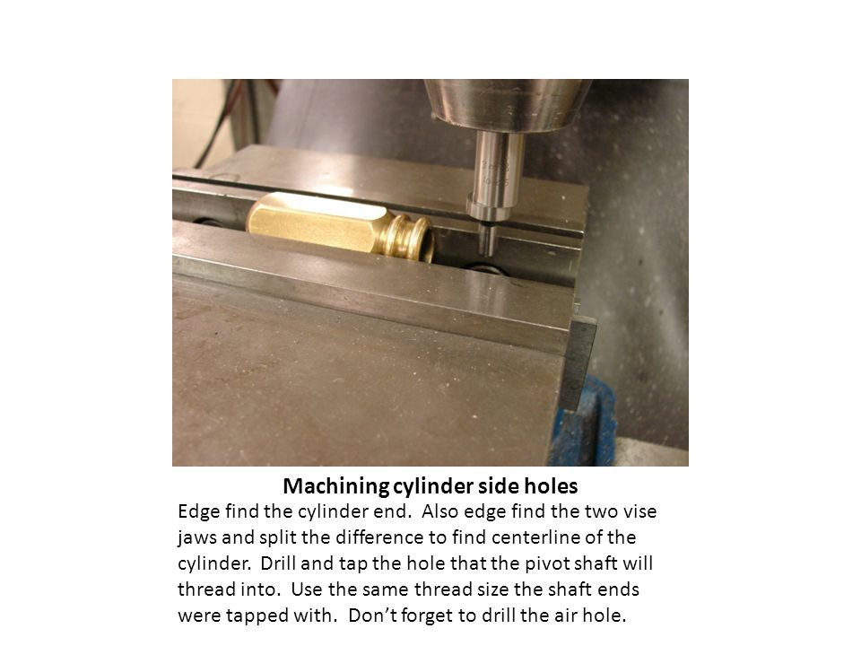 Edge find the cylinder end.