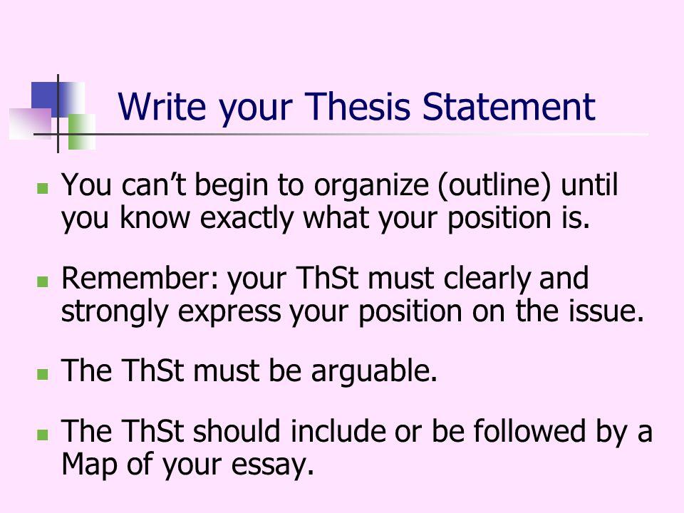 position essay writing