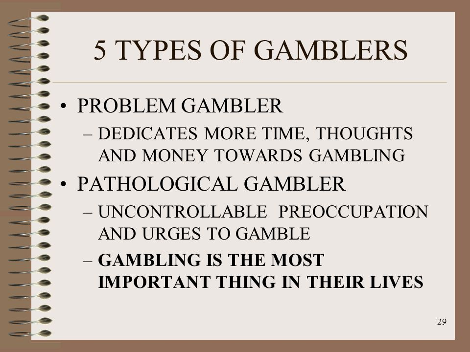 Pathalogical gambling cravings and urges pc pokie games