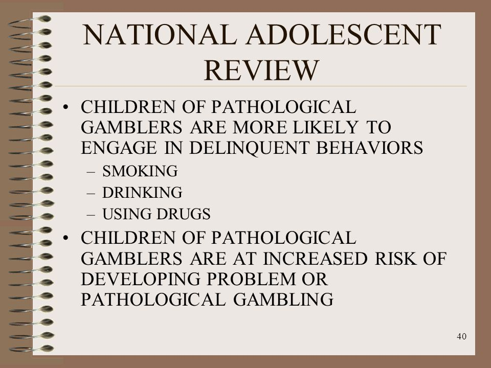 Pathological gambling more issue mainly affecting gambling in college sports