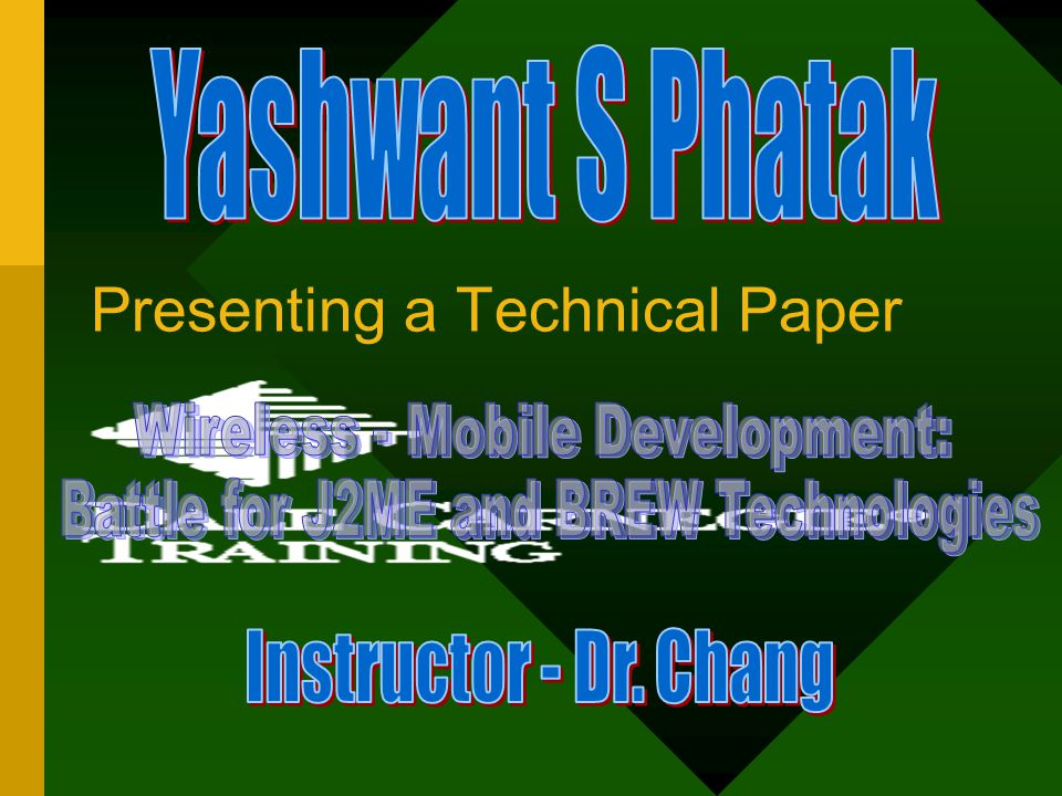 Presenting a Technical Paper