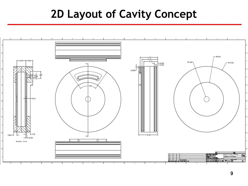 9 2D Layout of Cavity Concept