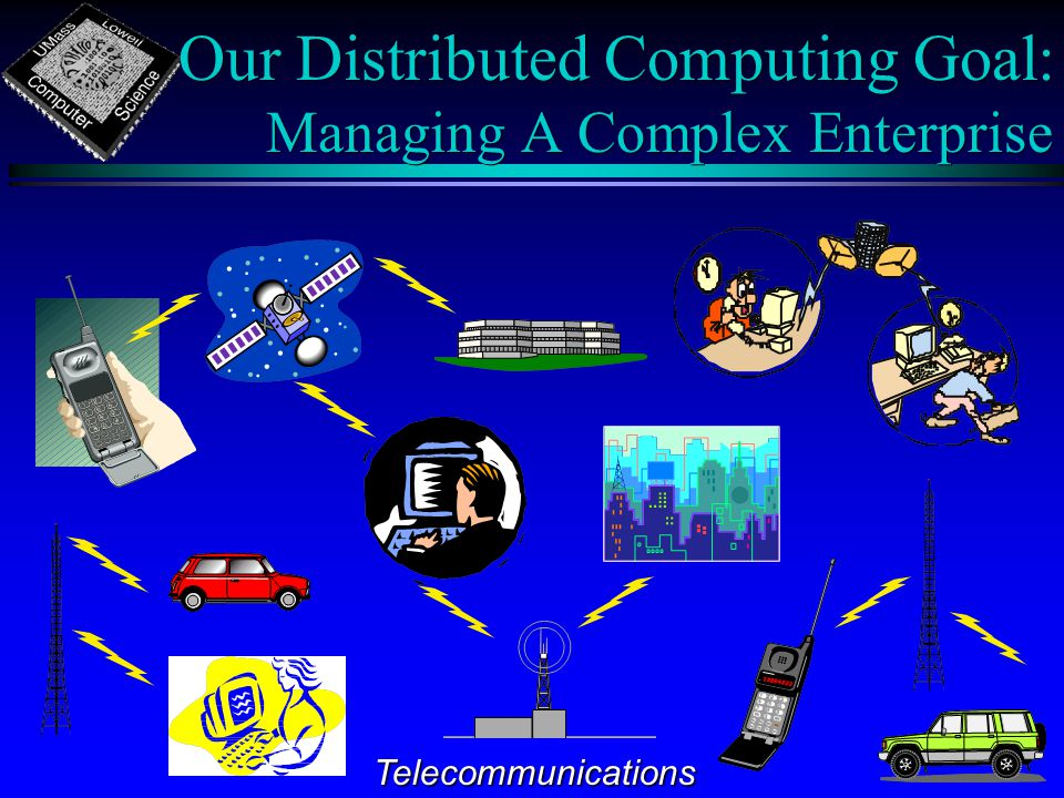 Our Distributed Computing Goal: Managing A Complex Enterprise Telecommunications