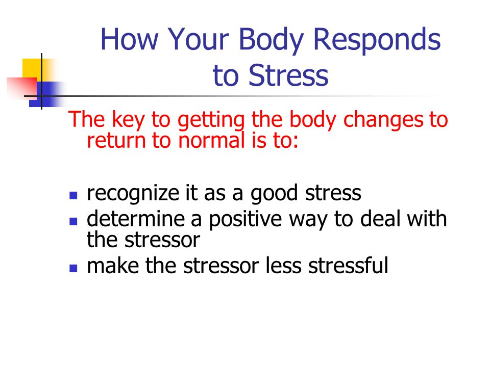 How Your Body Responds to Stress Not all stressors are bad stressors.