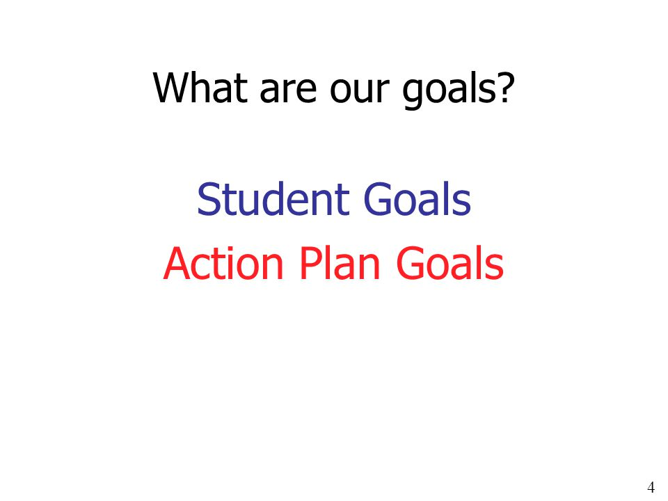 4 What are our goals Student Goals Action Plan Goals