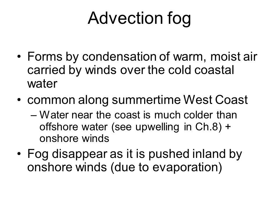 Fog/Foggy Weather. Overview Types of fog –Advection fog –Radiation ...