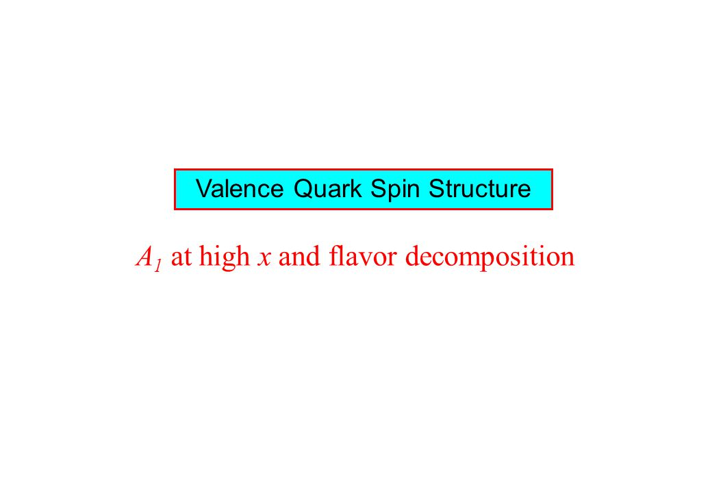 Valence Quark Spin Structure A 1 at high x and flavor decomposition