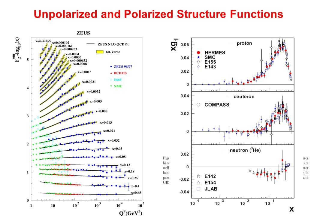 Unpolarized and Polarized Structure Functions