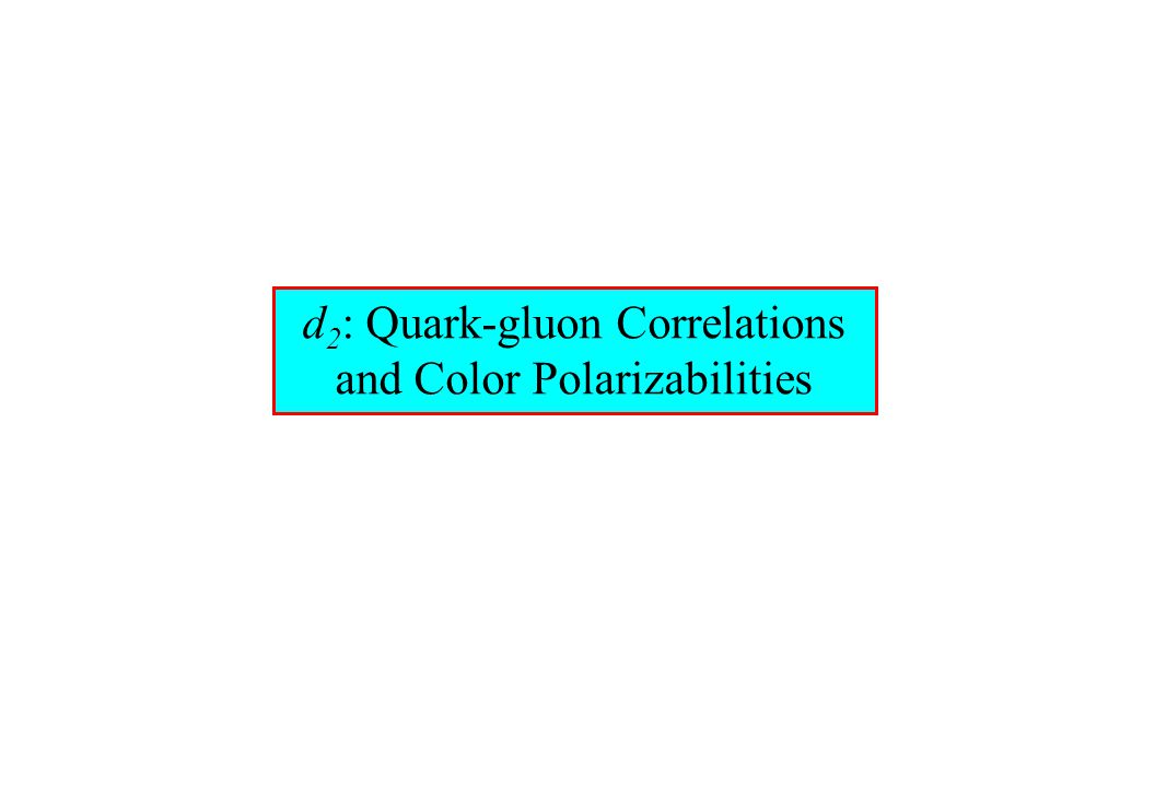 d 2 : Quark-gluon Correlations and Color Polarizabilities