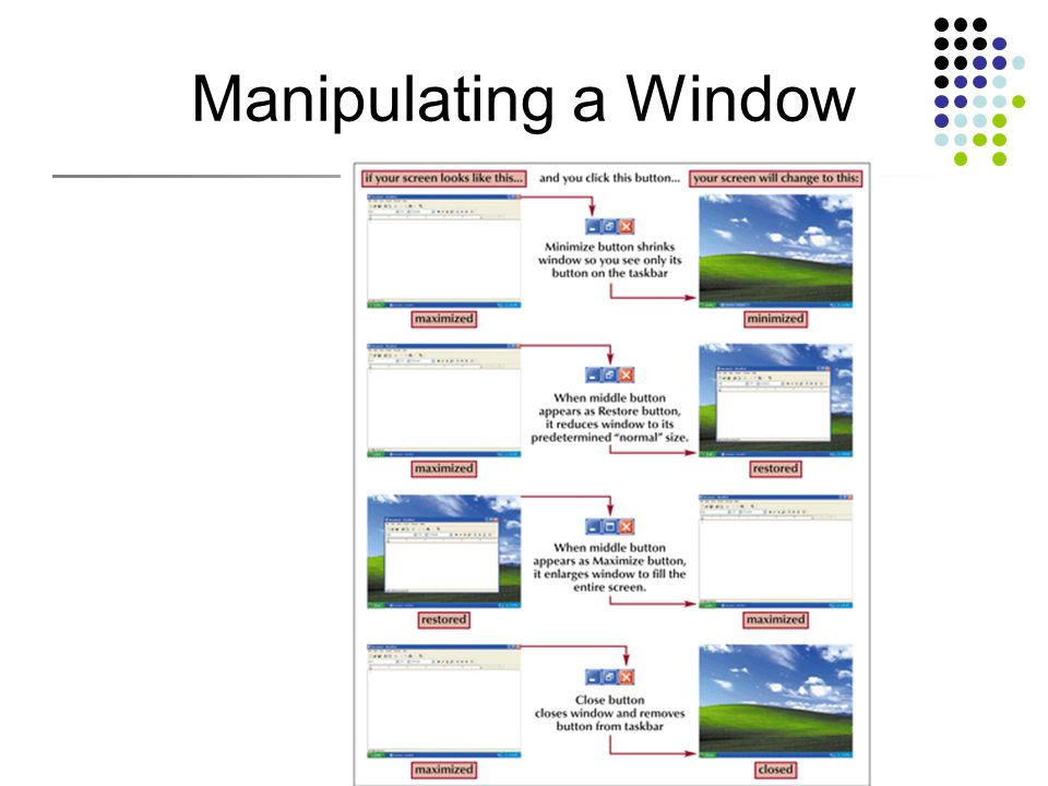 Manipulating a Window