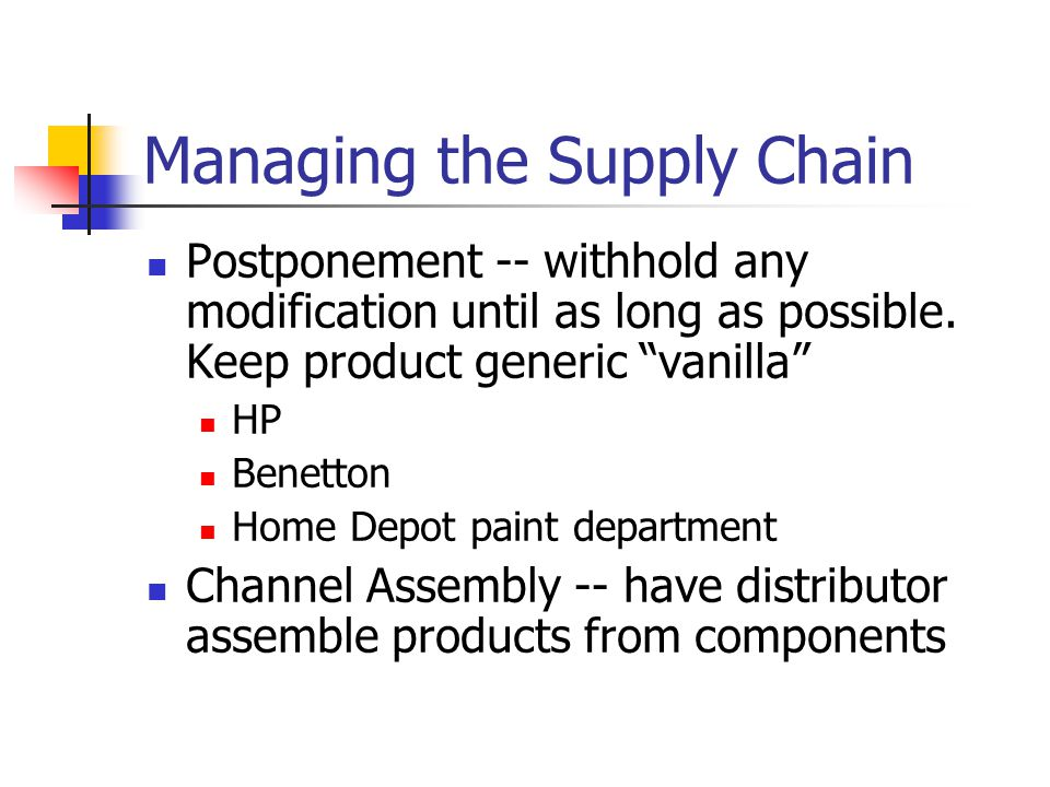benetton s dual supply chain system