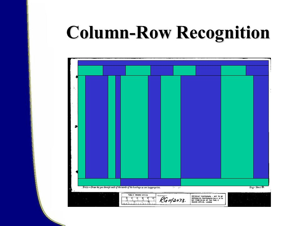 Column-Row Recognition