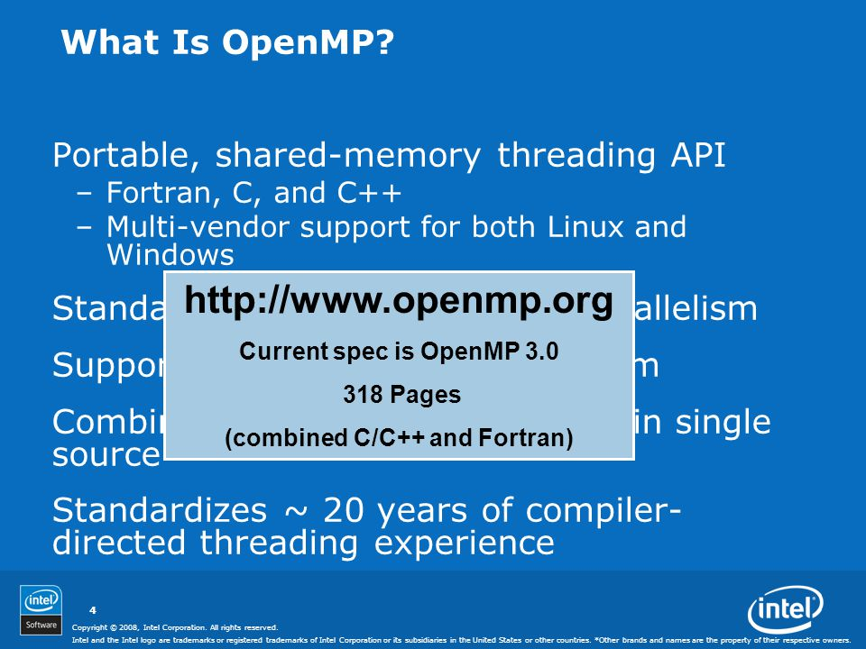 "Presentation ""Programming with OpenMP* Intel Software College ..."