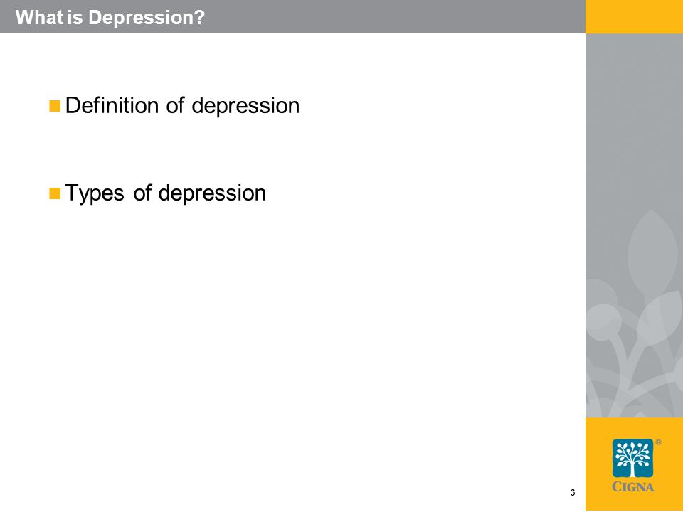 3 What is Depression Definition of depression Types of depression