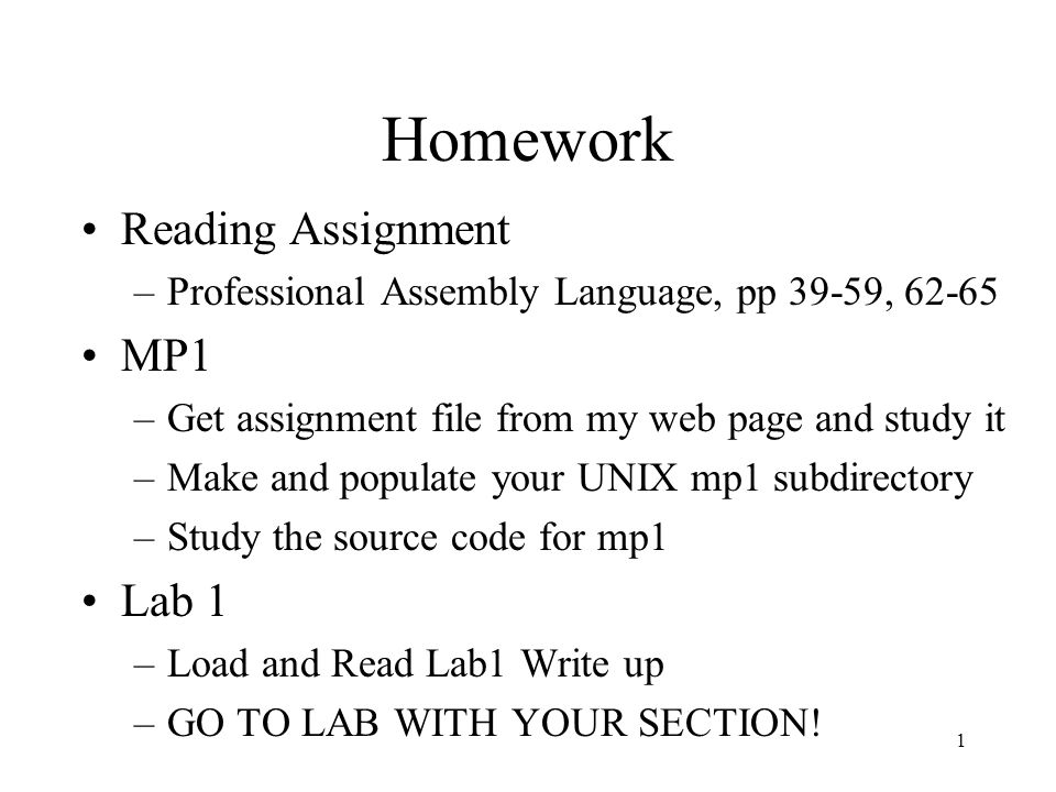 Language Homework Assignments