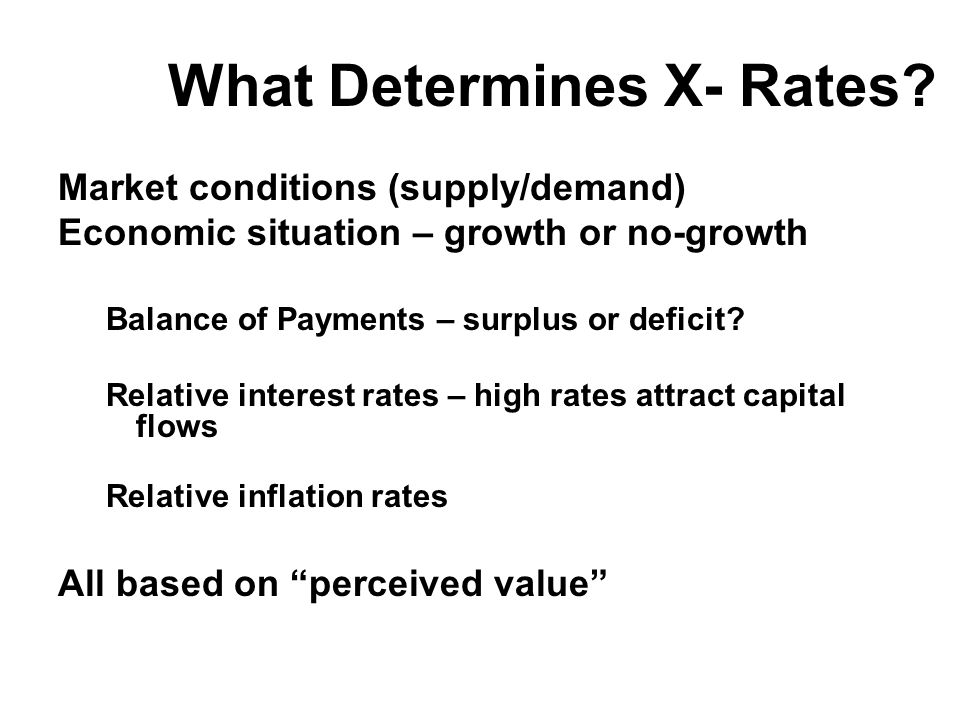 What Determines X- Rates.