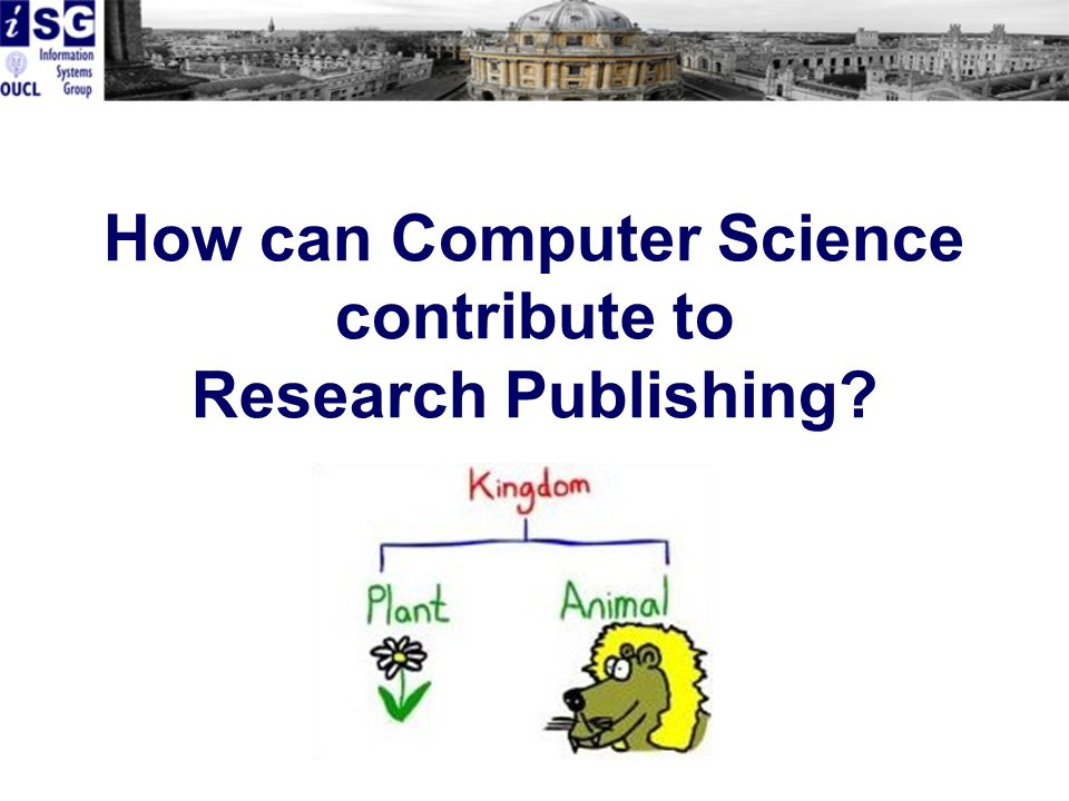 How can Computer Science contribute to Research Publishing