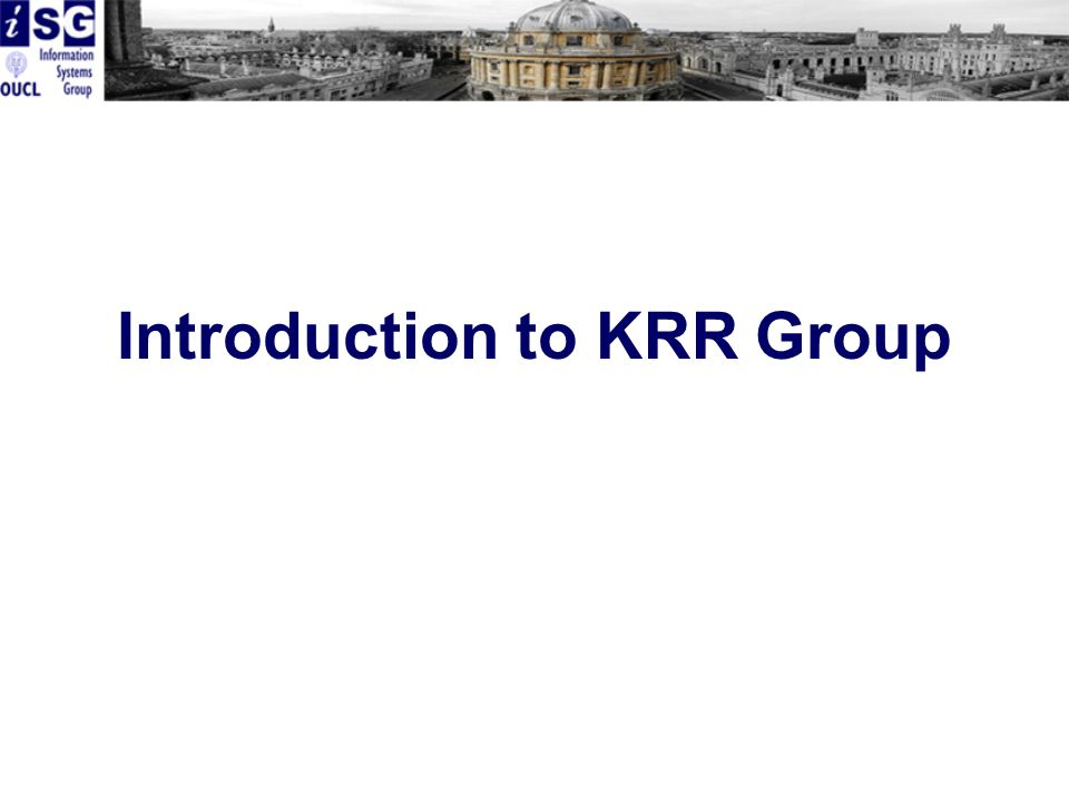 Introduction to KRR Group