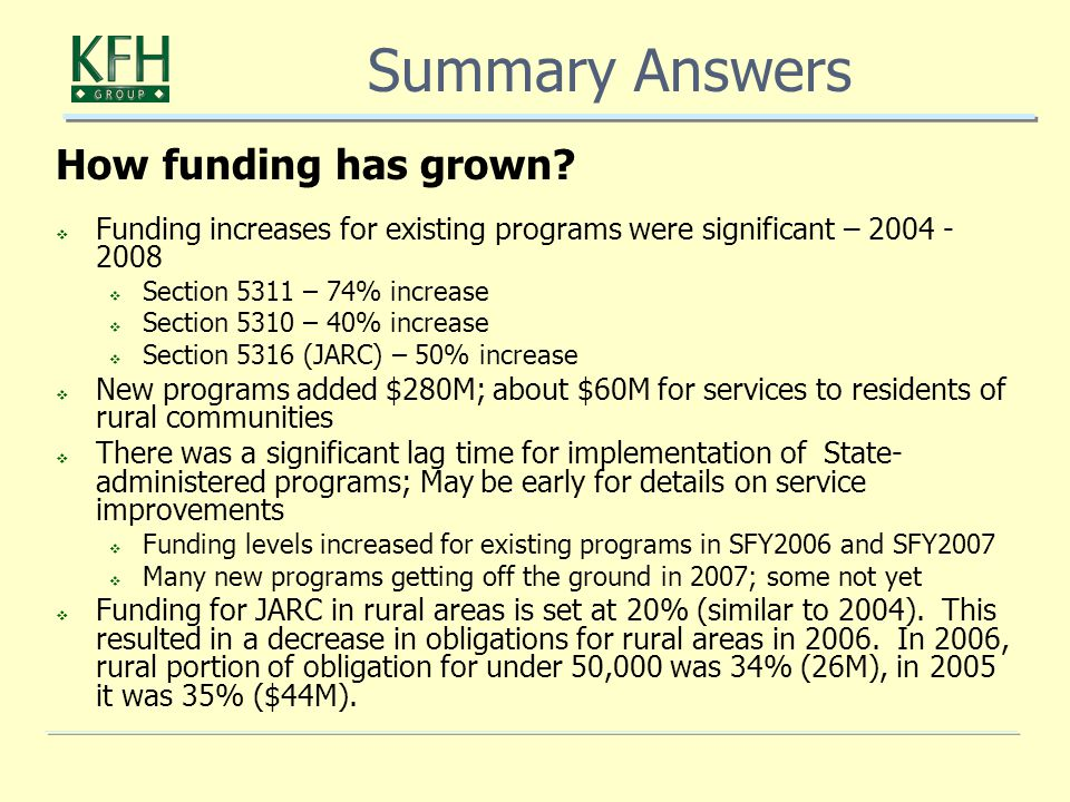 How funding has grown.