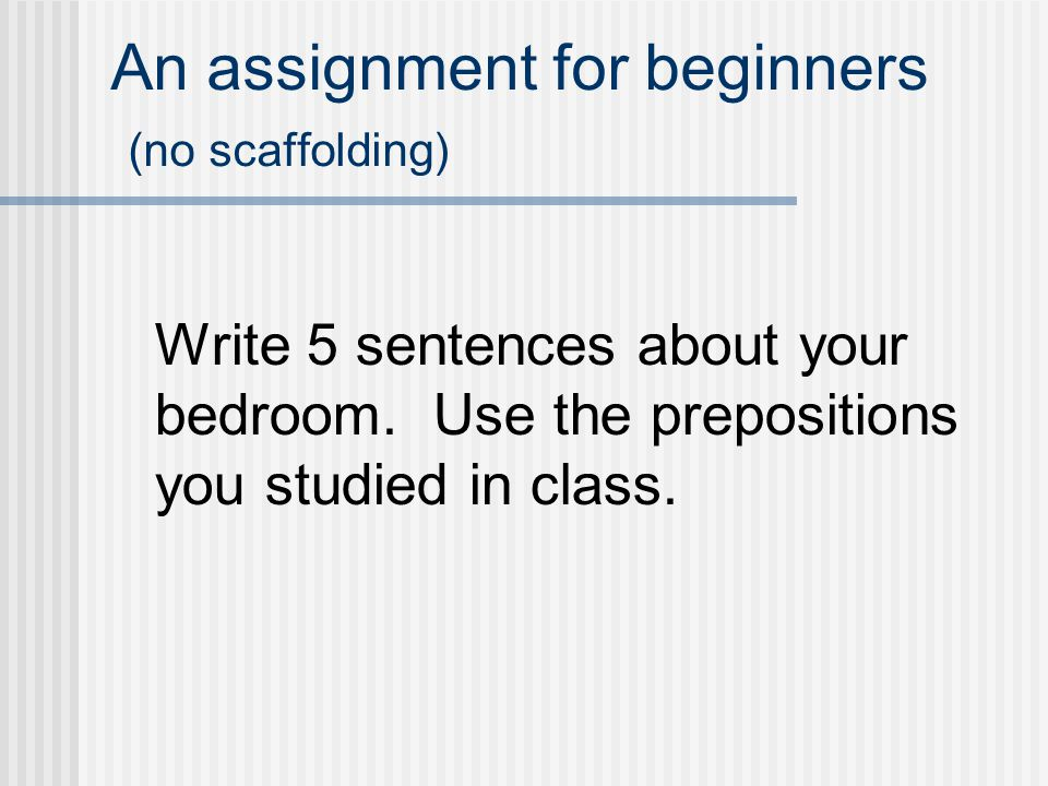 How to write an assignment for university