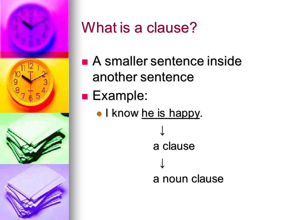 What is a clause.