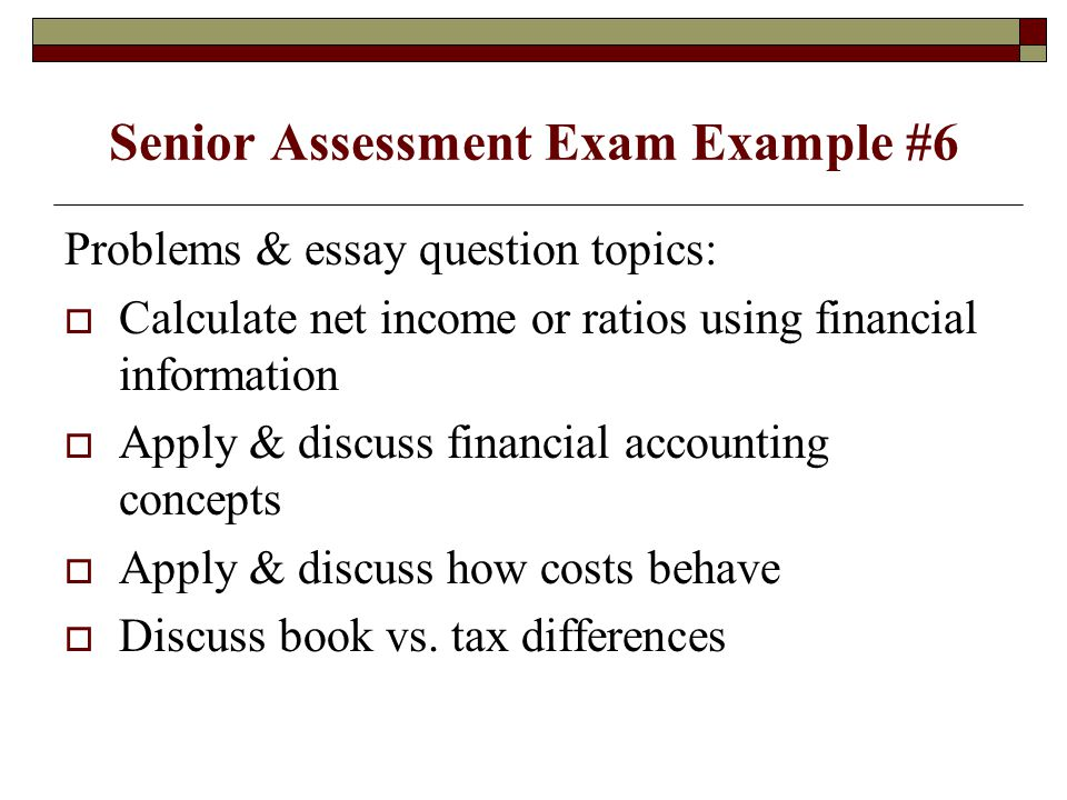 Accounting Essay Question?