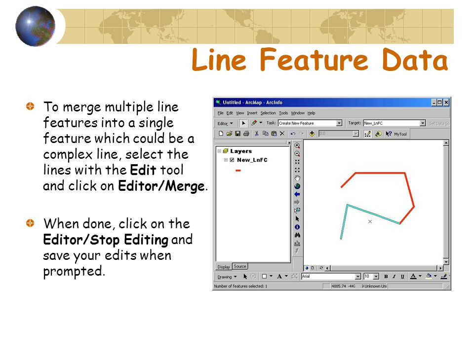 To merge multiple line features into a single feature which could be a complex line, select the lines with the Edit tool and click on Editor/Merge.