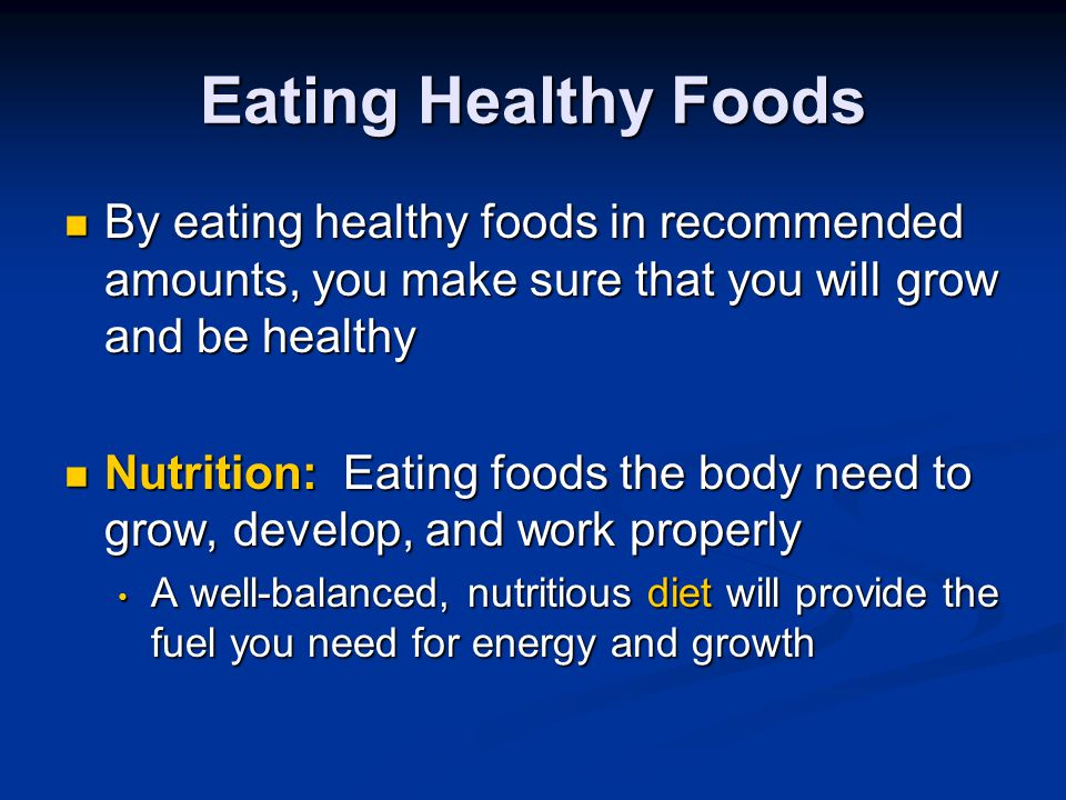 Eating Healthy and Eating Well Nutrition Unit