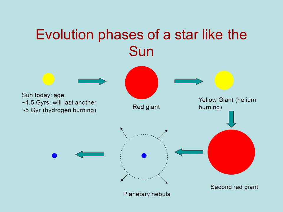black holes  and other collapsed stars  the hertzsprung russell    evolution phases of a star like the sun sun today  age    gyrs