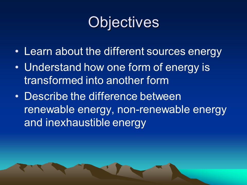 the different sources of energy List of energy resources these are modes of energy production, energy storage, or energy a complete list of different sources of energy.