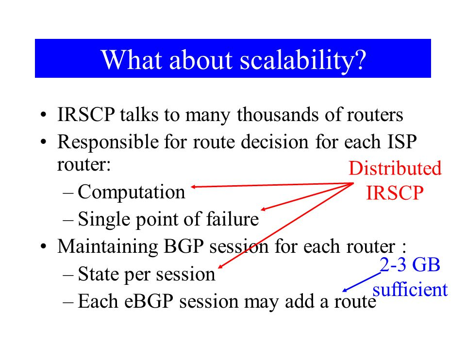 What about scalability.