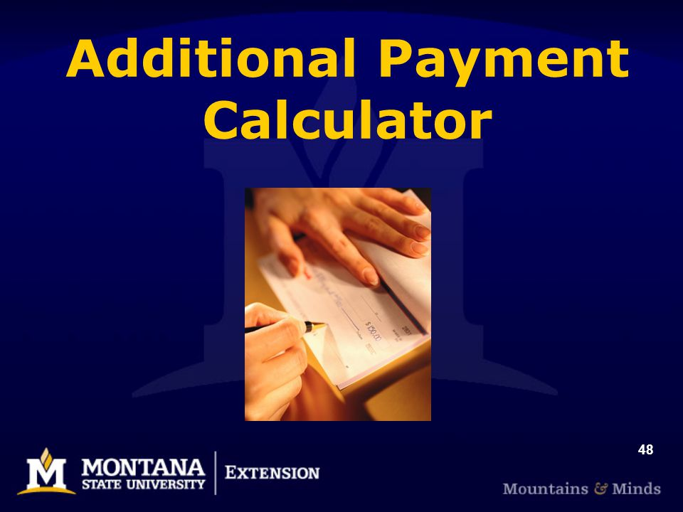 48 Additional Payment Calculator