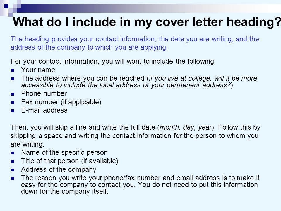What Do I Include In A Cover Letter