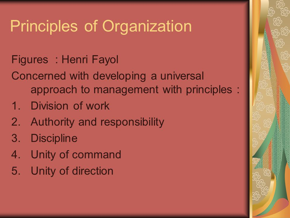 6.Subordination of individual or group interested.