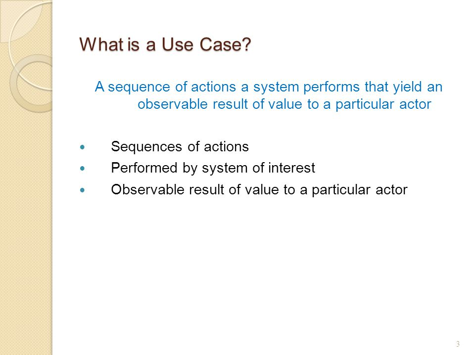 What is a Use Case.