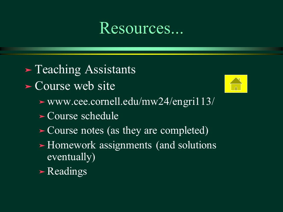 Resources...