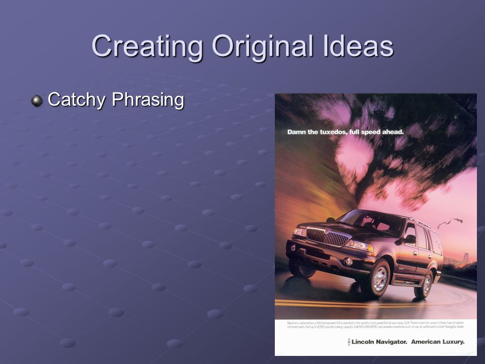 Creating Original Ideas Catchy Phrasing