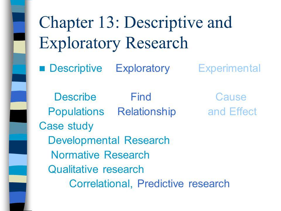 Descriptive study in research