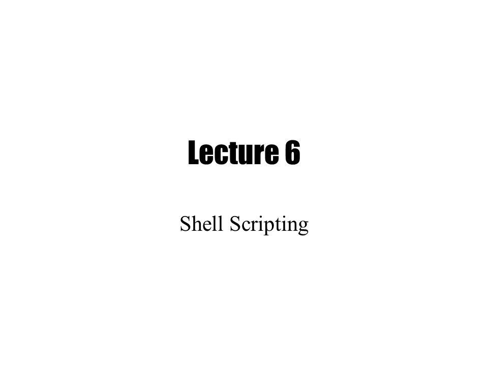 complex shell scripting
