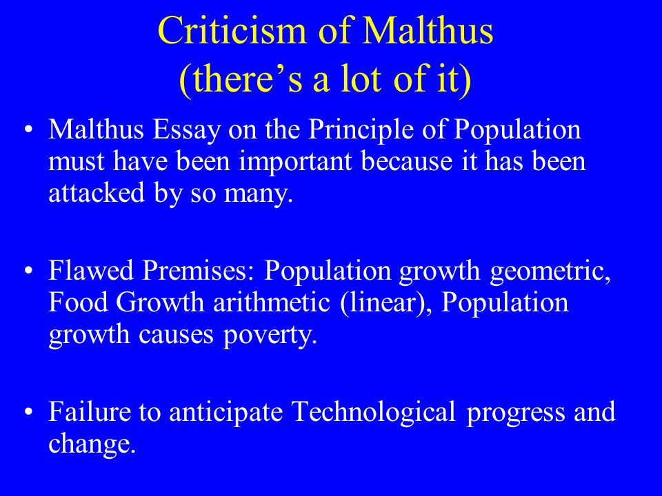population growth and the malthusian prophecy essay