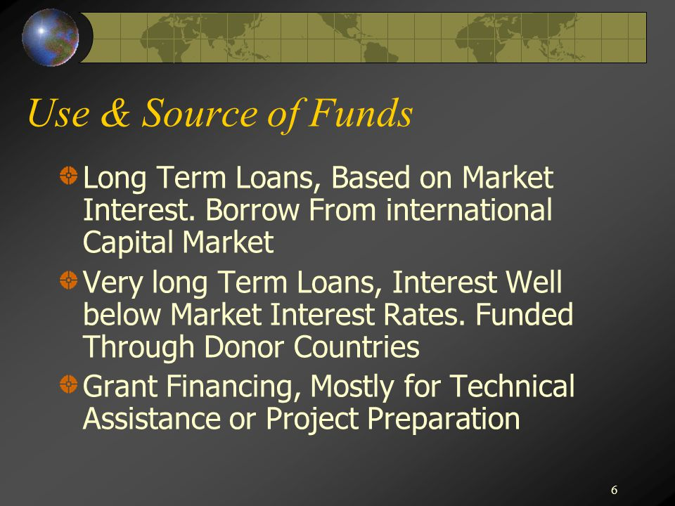 6 Use & Source of Funds Long Term Loans, Based on Market Interest.
