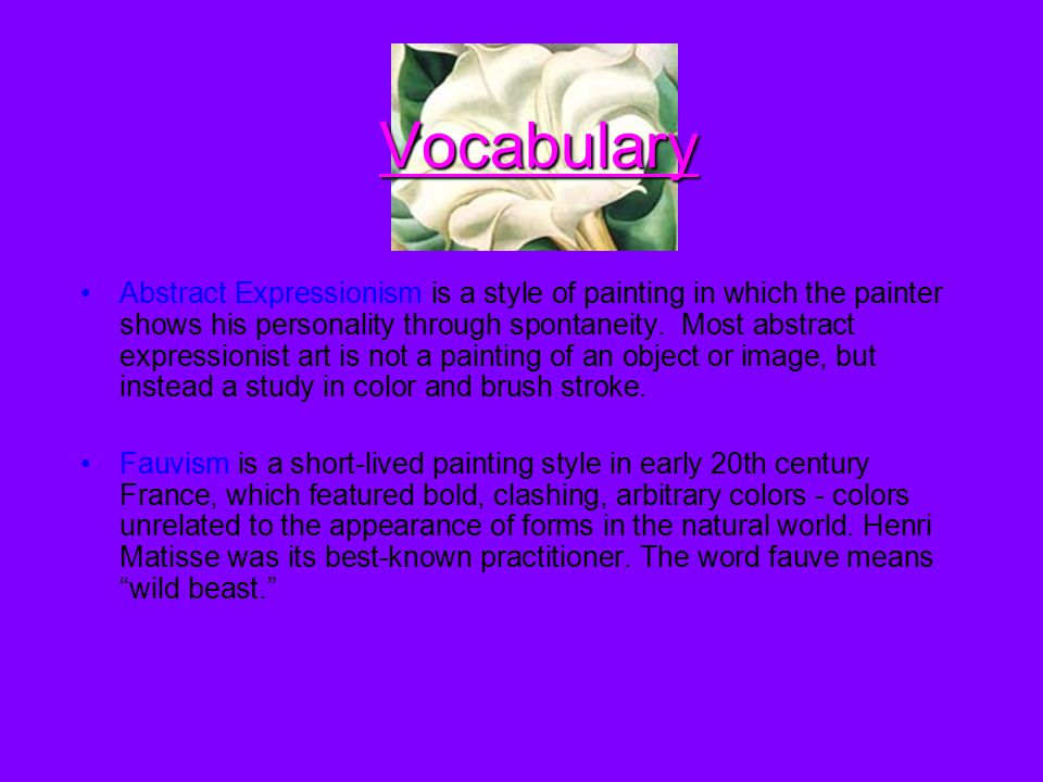 Vocabulary Chiaroscuro (Italian for lightdark) is defined as a bold contrast between light and dark.