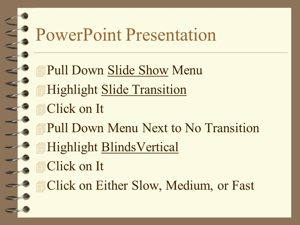 PowerPoint Presentation 4 Notice the 8 Handles Around Picture 4 Click on Picture If You Don't See Handles 4 Place Cursor on the Corner of the Picture 4 Cursor Should Turn Into a Double Arrow 4 Use This Double Arrow to Adjust Picture Size 4 Click In Empty Space