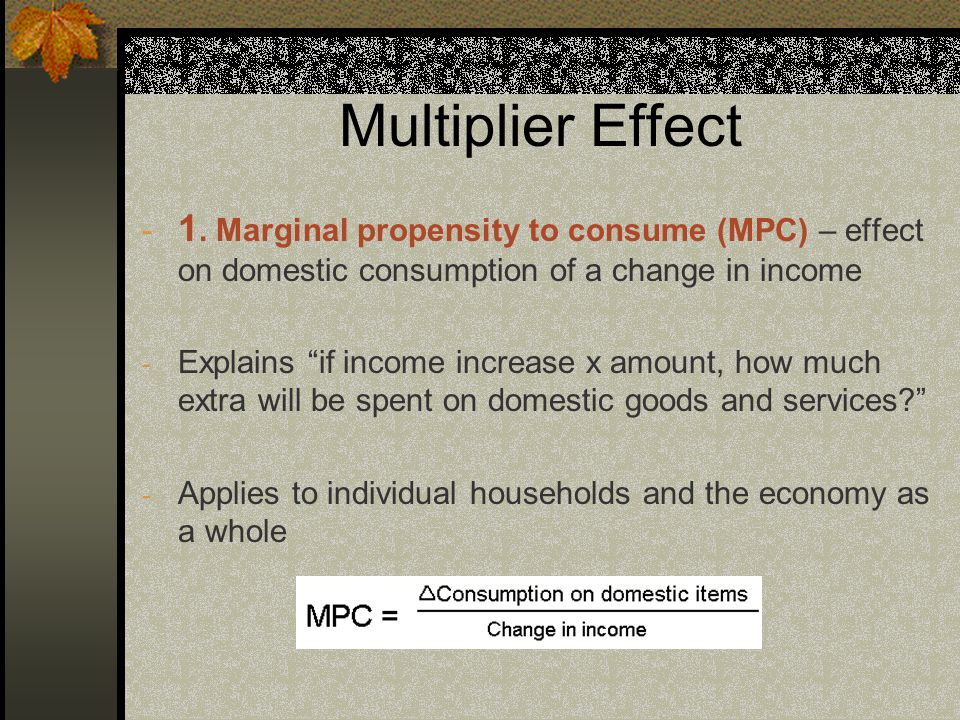 Multiplier Effect - 1.