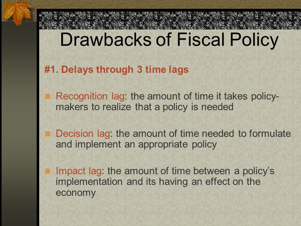 Drawbacks of Fiscal Policy #1.