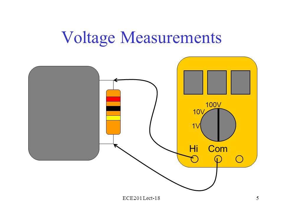 ECE201 Lect-185 Voltage Measurements HiCom 10V 1V 100V