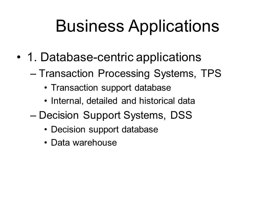 Business Applications 1.