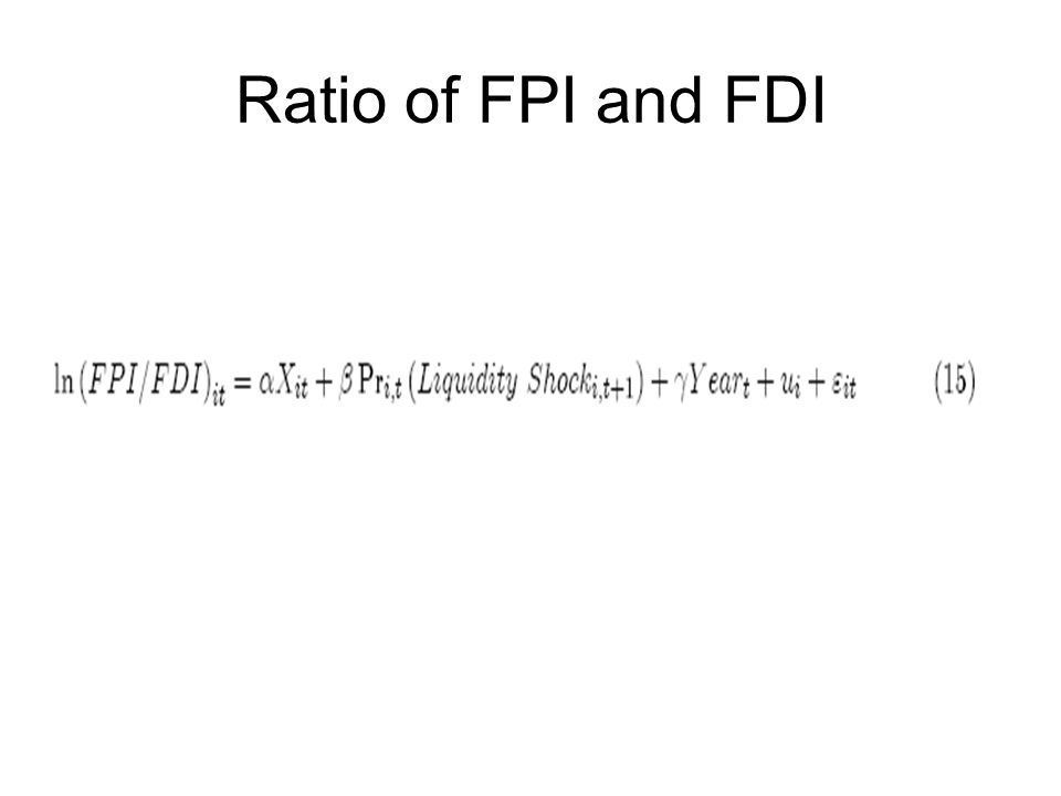 Ratio of FPI and FDI
